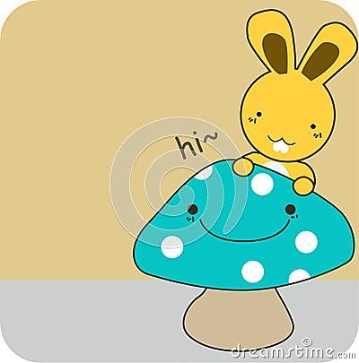 Mascot comic and rabbit