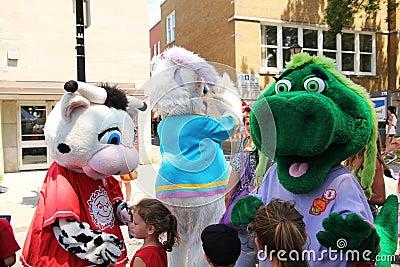 Mascot festival Editorial Photography