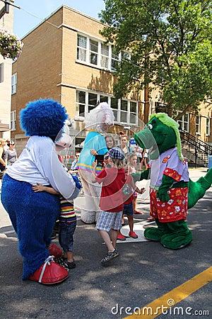 Mascot festival Editorial Stock Photo