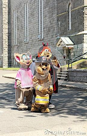 Mascot festival Editorial Photo