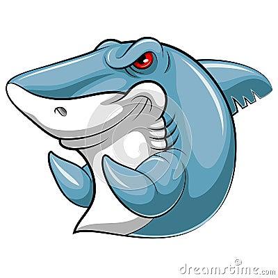 Mascot fish of an shark Vector Illustration
