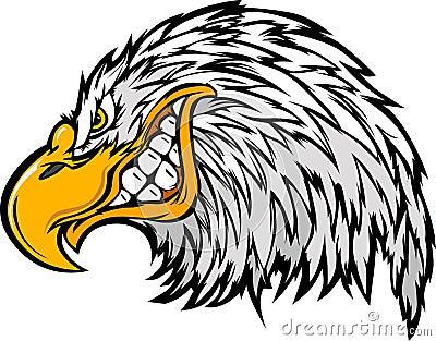 Mascot Head of an Eagle Cartoon Illustration