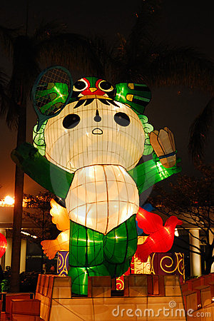 Mascot Nini, Olympic 2008 Editorial Photography