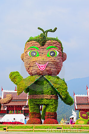 Mascot of Royal Flora 2011-2012 Show at Chiangmai Editorial Stock Photo