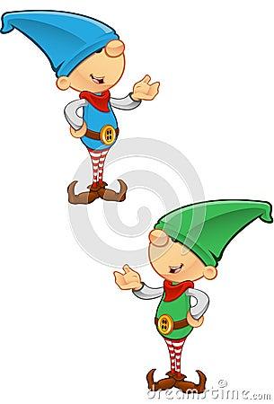 Mascotte d elfe - présentant