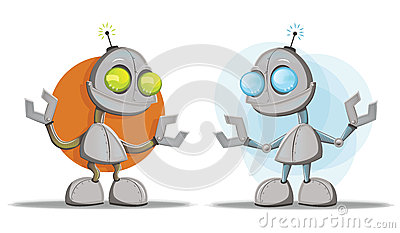 Mascottes de personnage de dessin animé de robot