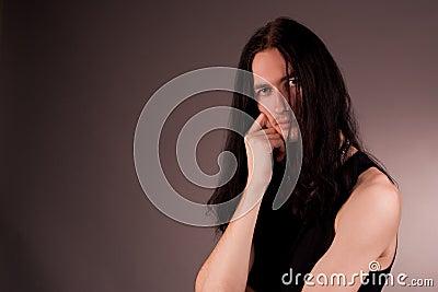 Masculine hansome gothic man