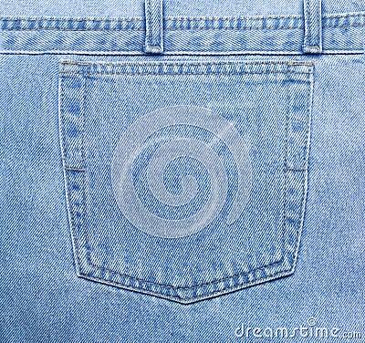 Masculine jeans pocket