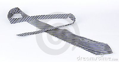 Masculine tie on a white background