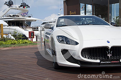 Maserati GranCabrio   left side Editorial Stock Photo