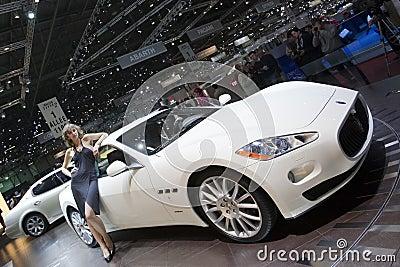 Maserati Granturismo 5 Automatik - 2009 Geneva Editorial Stock Image