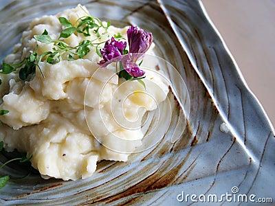 Mashed potato with rosemary