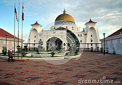 Masjid Selat Mosque, Malacca, Malaysia Editorial Stock Image