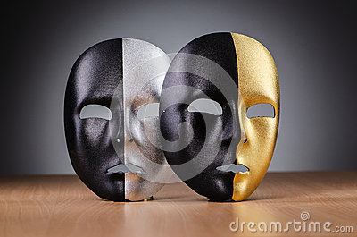 Mask against the  background