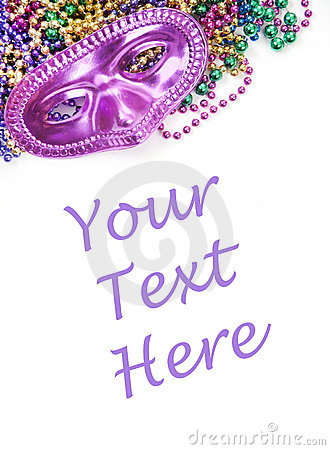 Free Mask And Beads With Copyspace Stock Image - 17614961