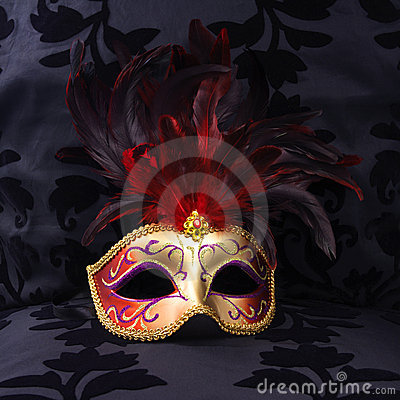 Mask at a black velvet seat  (Venice, Italy)