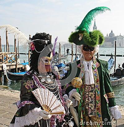 Mask - Carnival - Venice 2009 Editorial Stock Photo