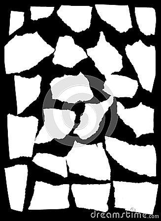 Mask looks like tattered paper