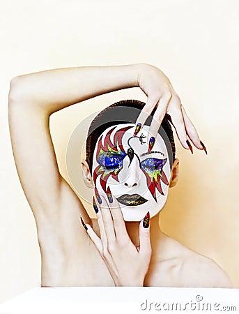 Mask makeup .