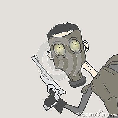 Mask military man
