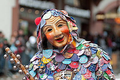 Mask parade in Freiburg, Germany Editorial Stock Image