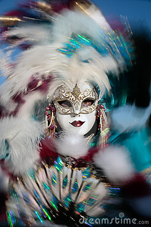 Mask portrait  carnival of venice italy