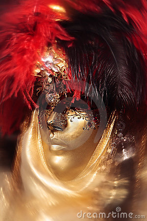 Mask portrait  carnival of venice italy Editorial Photo