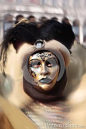 Mask portrait  carnival of venice italy