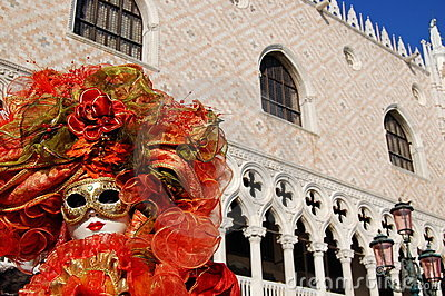 Mask in S.Marco square Editorial Image