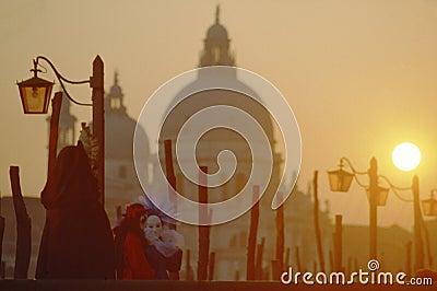 A mask in Venice Carnival