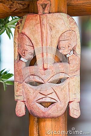 Mask wood.
