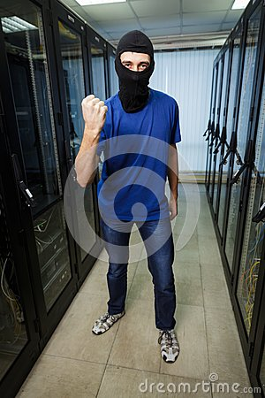 Free Masked Cyber Hacker Stock Photo - 43832830