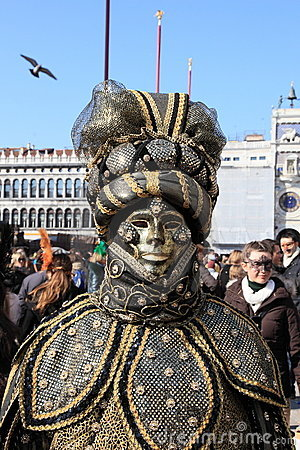 Masked performer at Venice carnival Editorial Image