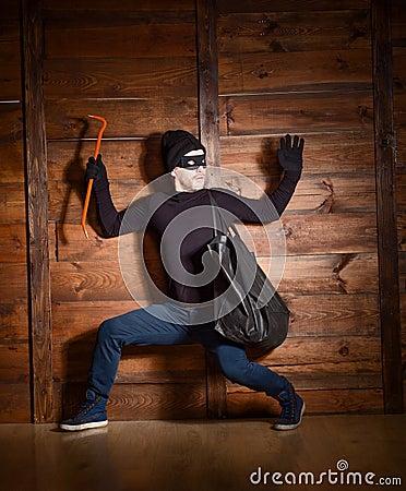 Free Masked Thief Stock Photo - 71199680