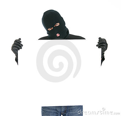 Masked thief - Your message here