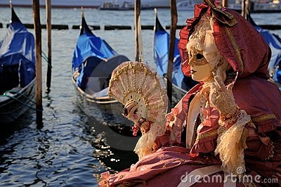 Masked Woman in Venice