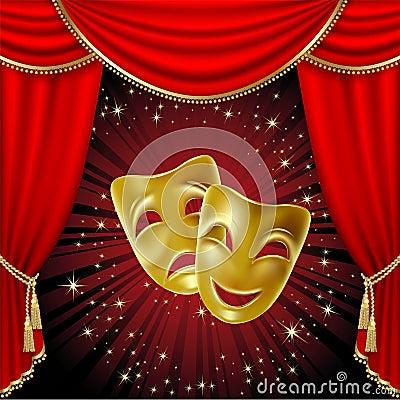 Maskerar scenisk