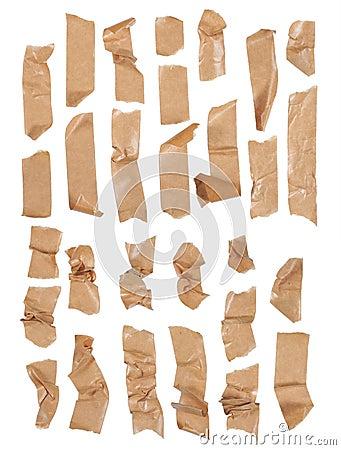 Masking tape streaks