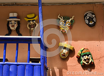Masks - The Sacred Valley of the Incas - Peru