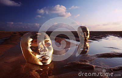 Masks on water