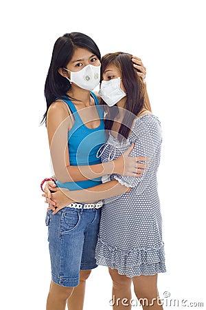 Maskuje ochronne kobiety