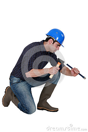 Free Mason With Hammer And Chisel Stock Photo - 30595130
