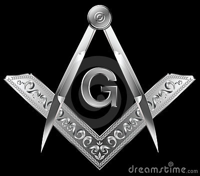 Masonic square and compass Editorial Stock Image