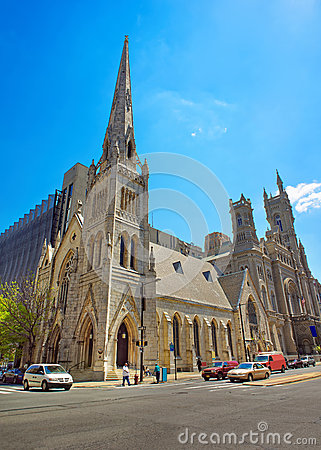 Free Masonic Temple And Street In The Old City Of Philadelphia Royalty Free Stock Photography - 72672817