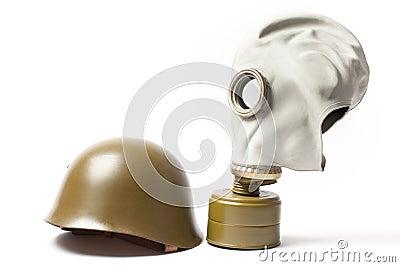 masque militaire de casque et de gaz photo stock image. Black Bedroom Furniture Sets. Home Design Ideas