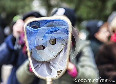 Masquerade Abstract Editorial Stock Image
