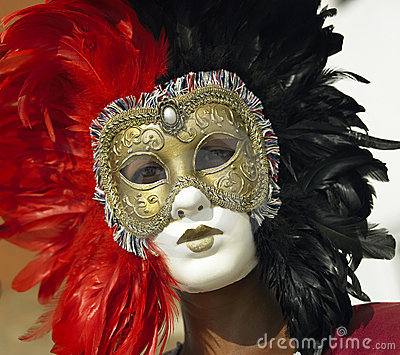 Masquerade Ball - Venice Carnival - Italy Editorial Photo