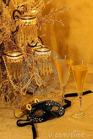 Free Masquerade, Champers & Opera Stock Images - 3462564