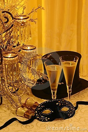 Free Masquerade, Champers & Opera Stock Photo - 3462570