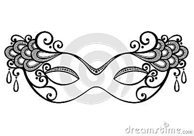 black phantom of the opera mask clip art clipart vector design